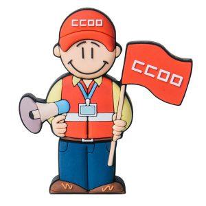 Sindicalista CCOO-CC-1111-EP-USB-PERSONAJES-PENDRIVE