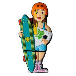 Skateboard Chica-LO-1109-EP-USB-PERSONAJES-PENDRIVE