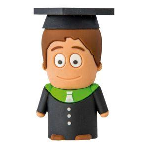 Graduado Chico Blanco-U-3D-ESTUDIANTE-A-EP-USB-PERSONAJES-PENDRIVE