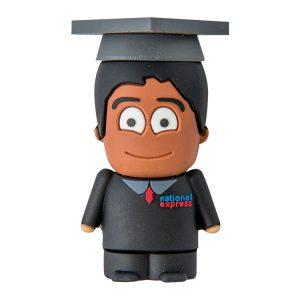 Graduado Chico Negro-U-3D-ESTUDIANTE-EP-USB-PERSONAJES-PENDRIVE