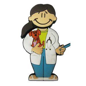 Veterinaria Chica-V-1074-EP-USB-PERSONAJES-PENDRIVE